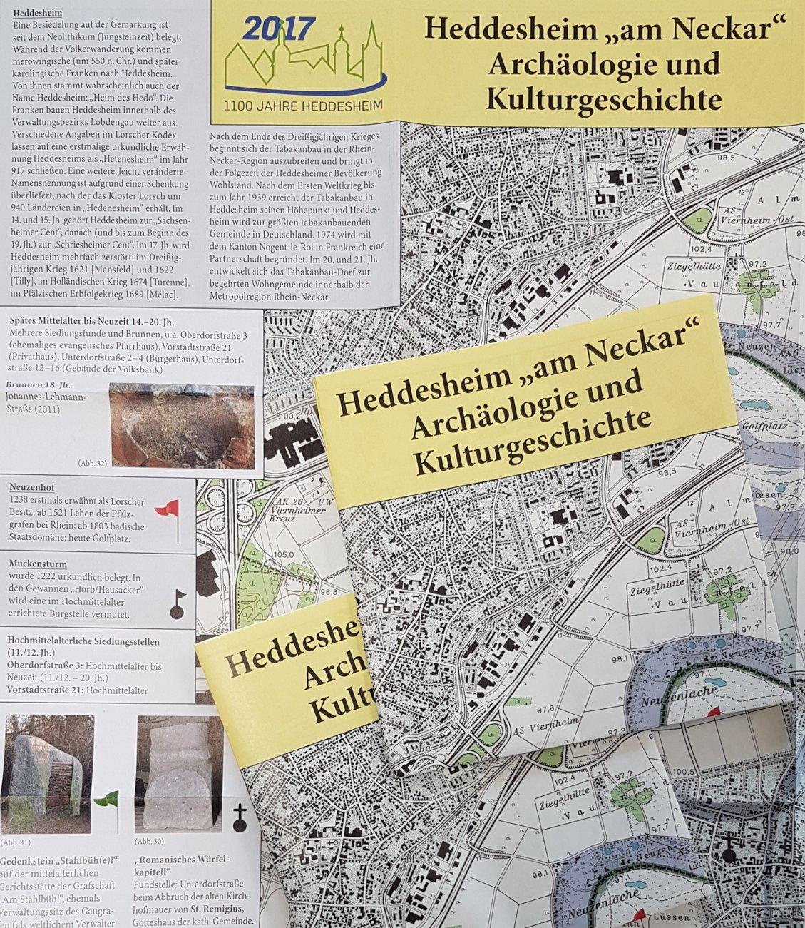 Ausschnitt aus der Karte zu Frühgeschichte Heddesheims