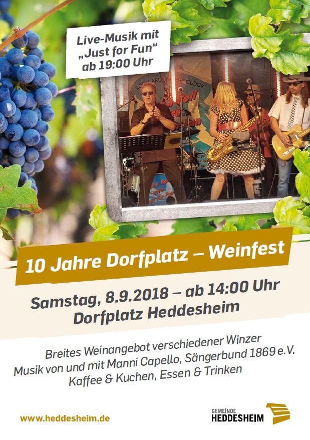 Weinfest Flyer Seite 1