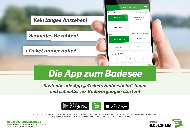 """""""eTickets Heddesheim"""" - Die App zum Badesee"""