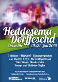"""Plakat """"Heddesema Dorffeschd"""" 20.-21.07.2019"""