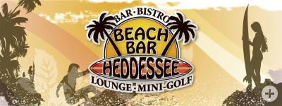 Beachbar Heddessee Lounge Minigolf am See Logo