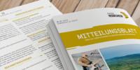 Titelblatt und Innenteil des Mitteilungsblattes Heddesheim