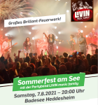 Sommerfest am See mit der Partyband LIVIN music family am 7. August 2021