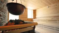 Blick in die Sauna im Hallenbad