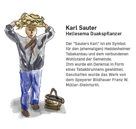 Illustration: Tabakbauer Karl Sauter