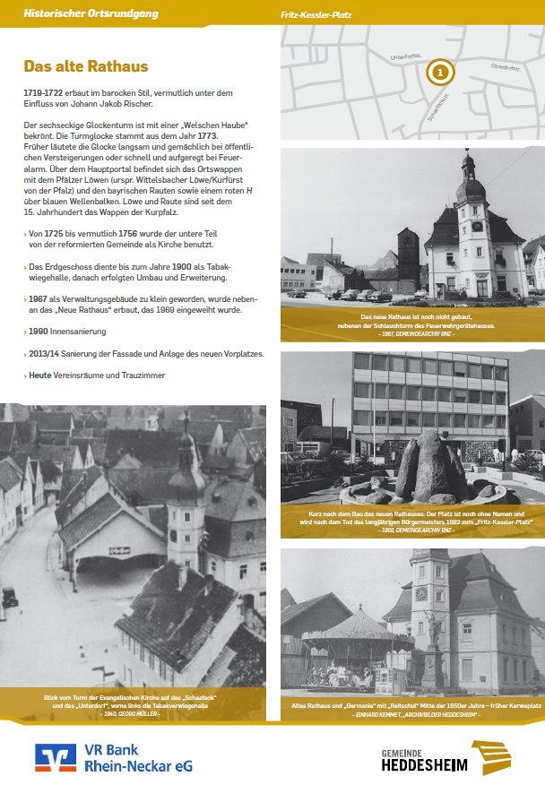 Beispielschild Historischer Ortsrundgang Heddesheim