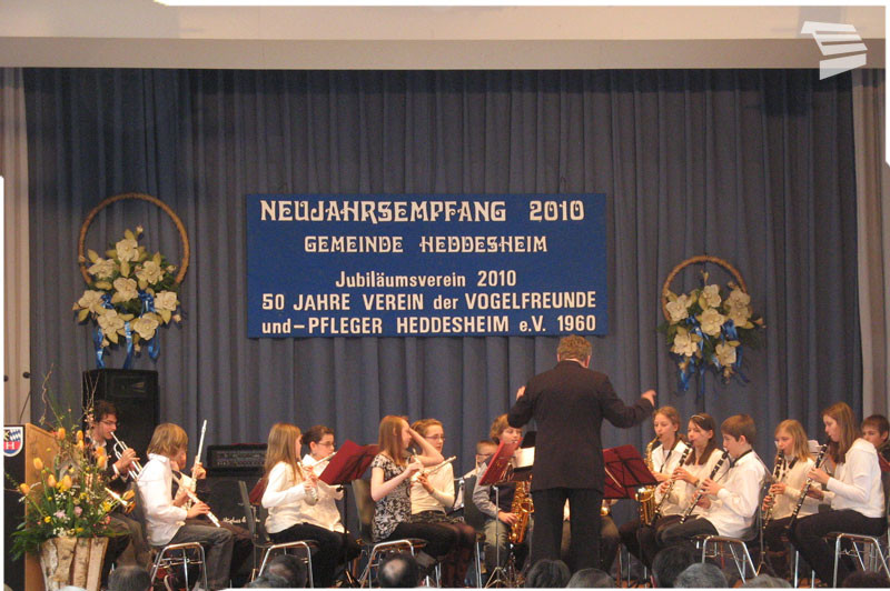 Musikschule Heddesheim Auftritt beim Neujahrempfang 2010
