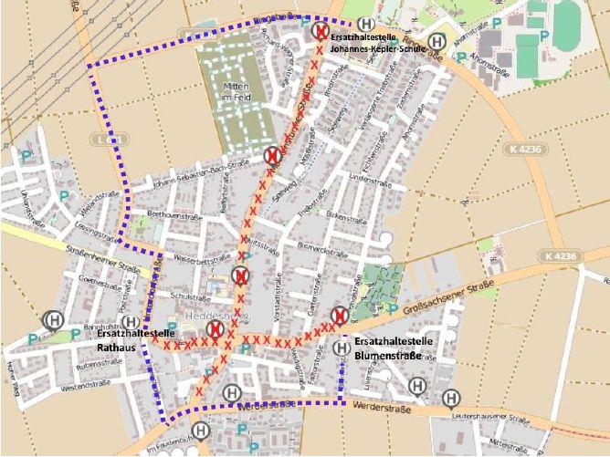 Plan Busumleitung Kerwe 2018
