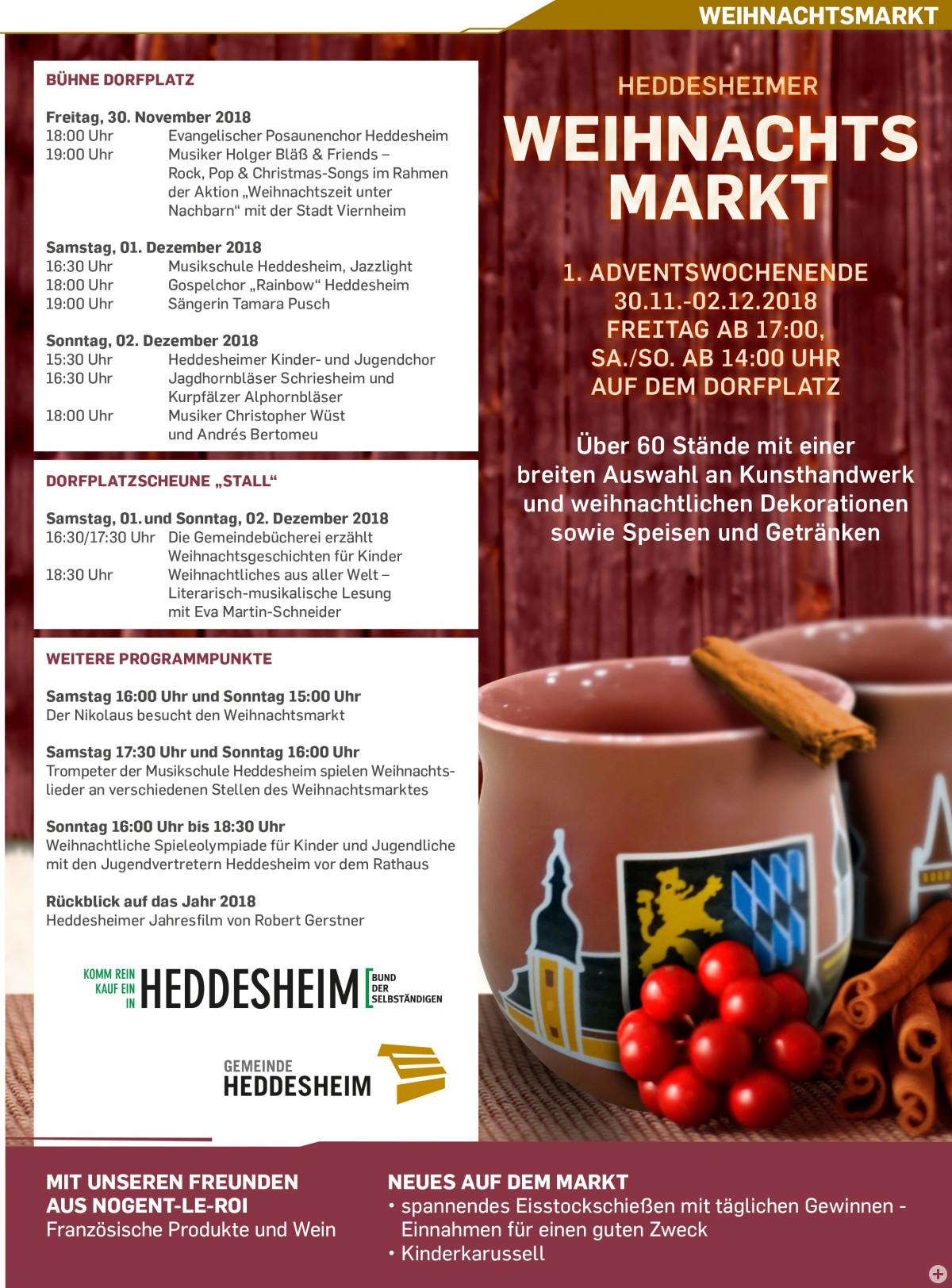 Programm Weihnachtsmarkt 2018