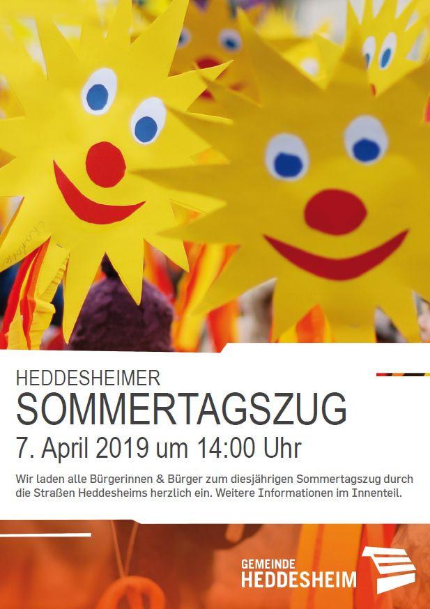 Plakat Sommertagszug am 07.04.2019