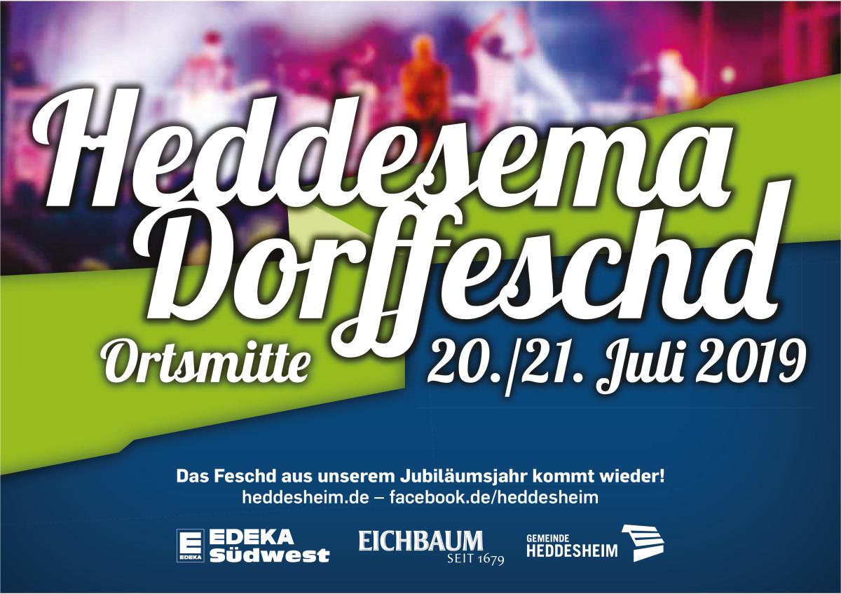 """Anzeige """"Heddesema Dorffeschd"""" 20.-21.07.2019"""