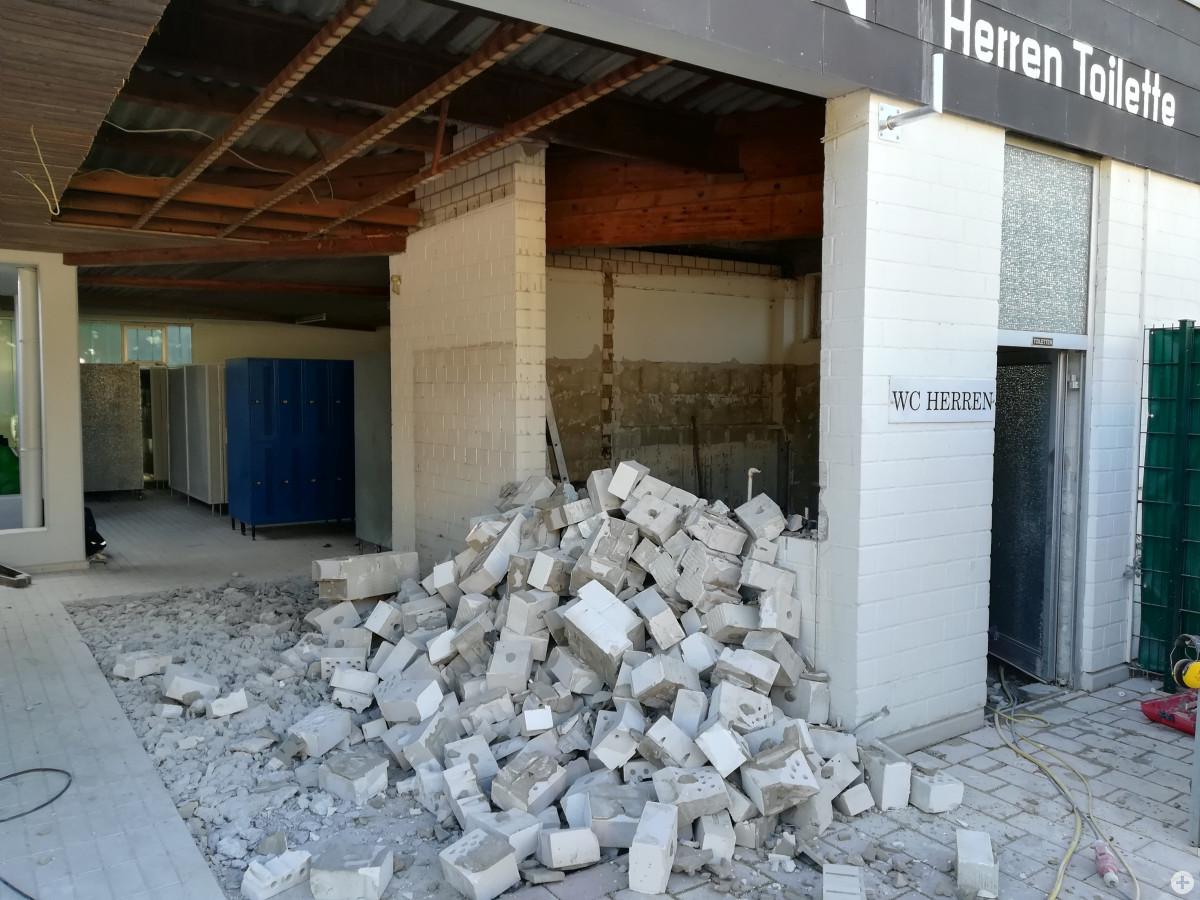 Erweiterung der Herrentoiletten am Badesee