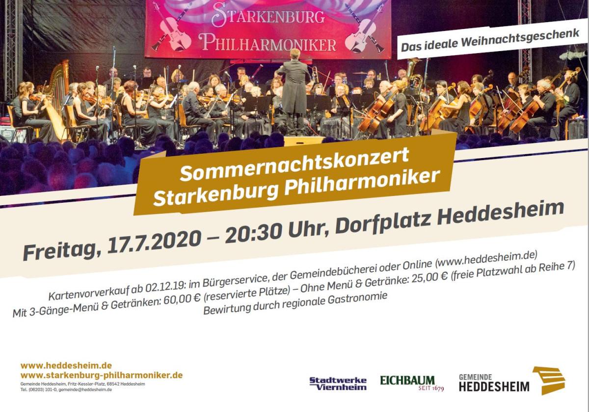 Anzeige Sommernachtskonzert Starkenburg Philharmoniker 2020