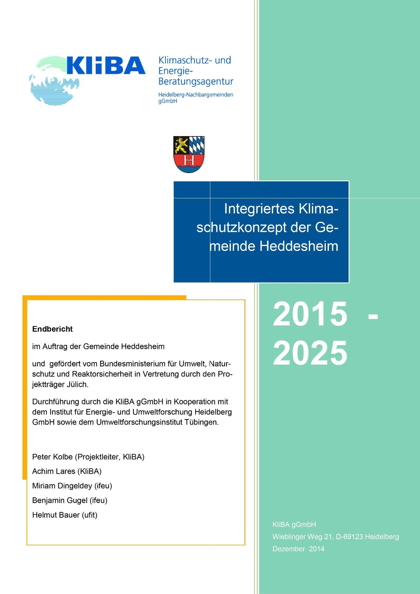 Klimaschutzkonzept Gemeinde Heddesheim