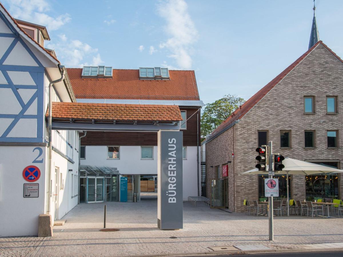 Ansicht des Bürgerhauses in Heddesheim
