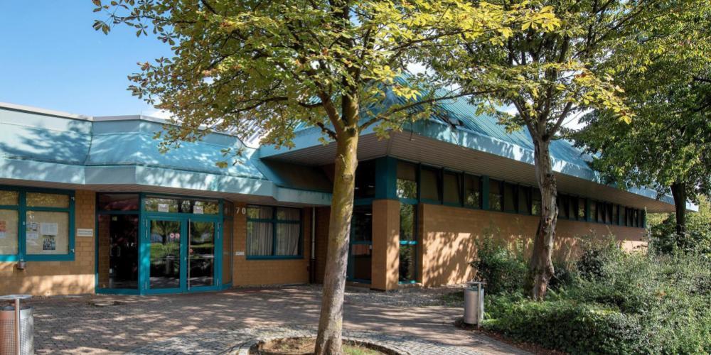 Eingangsbereich der Nordbadenhalle 2