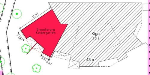 Plan zur Erweiterung des Kindergartens