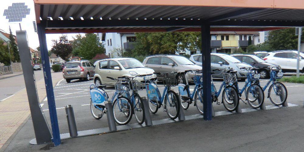 VRN Nextbike am OEG Bahnhof