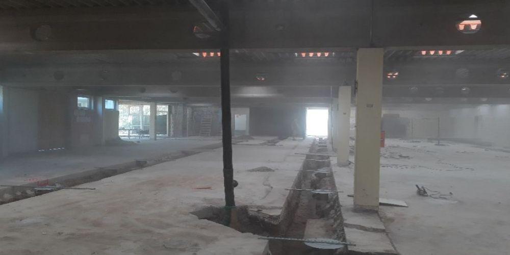Baustelle Umkleide und Saunabereich Hallenbad