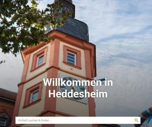 Neue Startseite der Gemeindewebseite 2020