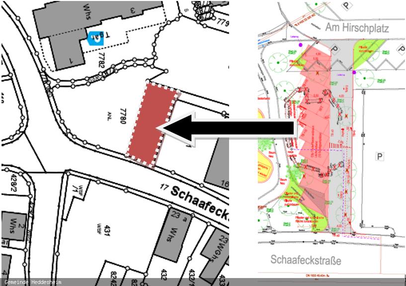 Parkplatz zwischen Schaafeckstraße und Hirschplatz