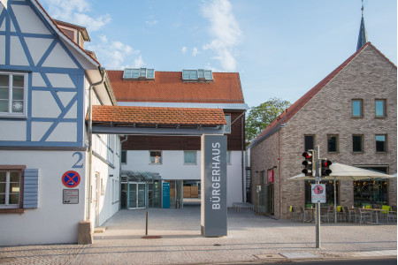 Das Bürgerhaus von Heddesheim ist ein Fachwerkhaus.