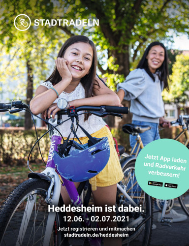 Stadtradeln Plakat Mädchen mit Mutter