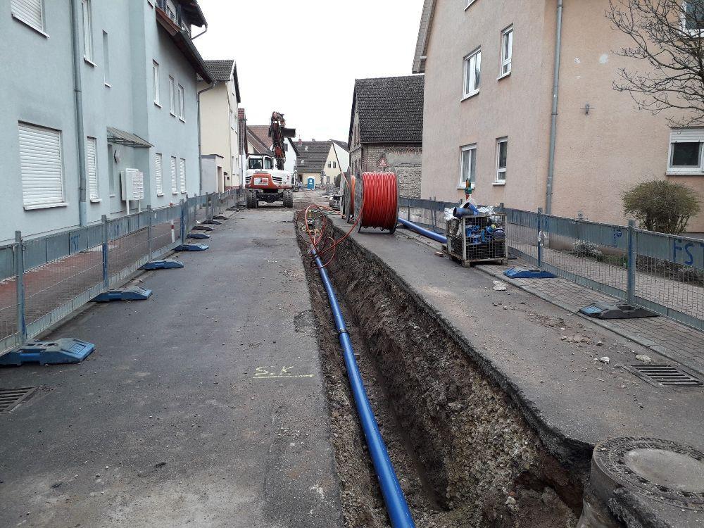 Waserbettstraße Arbeiten zur Erneuerung der Trinkwasserleitung